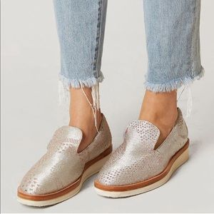 Free People Silver Snake Eyes Loafers